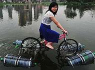 搞笑奇葩图片之两用自行车