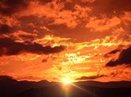 唯美意境的黄昏景色图片