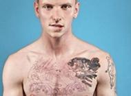欧美帅哥黑白霸气纹身头像