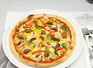 经典香辣牛肉披萨图片