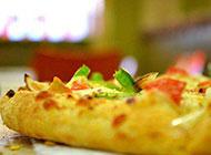 美味的蔬菜披萨图片