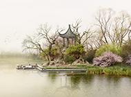 中国风水墨画背景图片素材