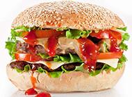 双层牛肉汉堡图片素材