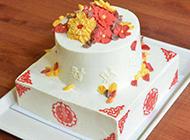 简约欧式双层蛋糕图片