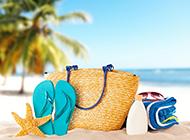 唯美的清凉夏日沙滩风景图片