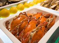 煮熟了的螃蟹实拍图片