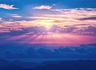 大自然唯美的夕阳景色图片