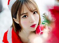 圣诞节美女高清护眼桌面壁纸