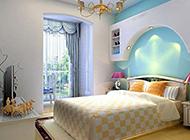 别墅地中海卧室装修效果图