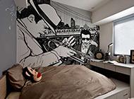 现代公寓创意墙绘设计图
