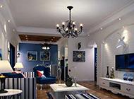 地中海客厅背景墙装饰效果图