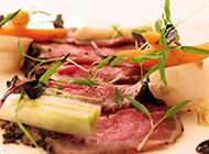 精致西餐冷盘牛排图片