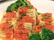 广东客家小吃酱汁酿豆腐图片