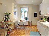 格调轻快明亮的简欧厨房装饰效果图