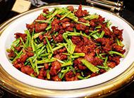 西芹炒肉家常菜图片