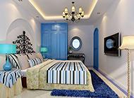 别墅简约地中海卧室装修效果图