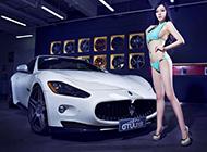 白色玛莎拉蒂GTS跑车高清图片