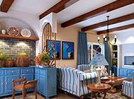 浪漫唯美的客厅地中海风格简约效果