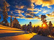 洁净的山川冬天雪景壁纸