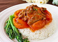自制西红柿牛肉盖饭图片