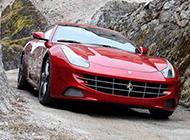 红色法拉利跑车超清摄影图片