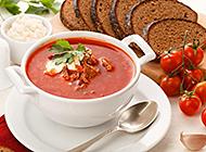 营养美味的西餐番茄牛肉汤图片