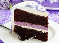 紫色梦幻蛋糕图片素材