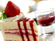 简单的草莓蛋糕图片素材