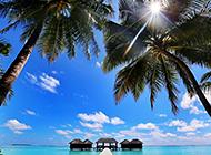 优美迷人的马尔代夫风景图片壁纸