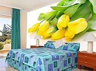 高清黄玫瑰花背景墙图片