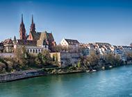 德国莱茵河畔风光电脑桌面壁纸