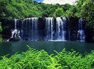 绿色清新大自然山水瀑布壁纸