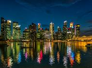 摩天大楼城市夜景电脑壁纸