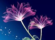 紫色花朵高清唯美ppt背景
