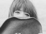 精选美女黑白qq头像图片