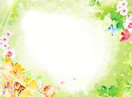 唯美淡雅的花朵ppt背景图片