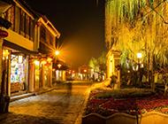 苏州周庄的夜景风光高清壁纸