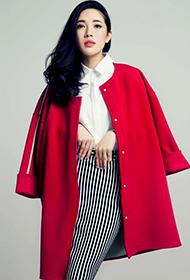 中国90后女星付曼时尚优雅图片