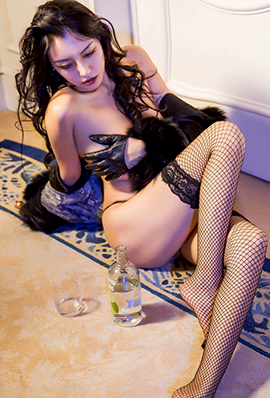 性感美女大丹丹Jessi超薄黑丝写真