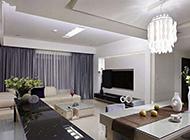 简约风格客厅电视墙装修设计图