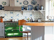 小户型田园开放式厨房装