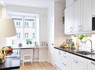 白色系简约式厨房装修效果图