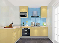 清新温暖的小户型厨房装