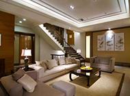 复式新房新中式客厅设计效果图
