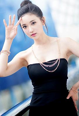 韩国车展模特文架景高清美图