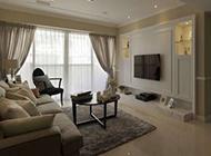 时尚质感舒适客厅简约背景墙