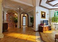 温馨舒适田园客厅装修效
