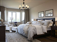 别墅卧室优雅简欧风格效