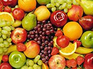 新鲜可口的水果背景图片