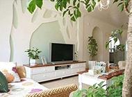 最新欧式田园客厅装修效果图